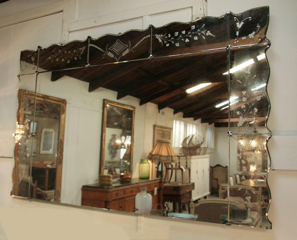 Large 1940's Sectionned Venetian Style Mirror | Haunt ...