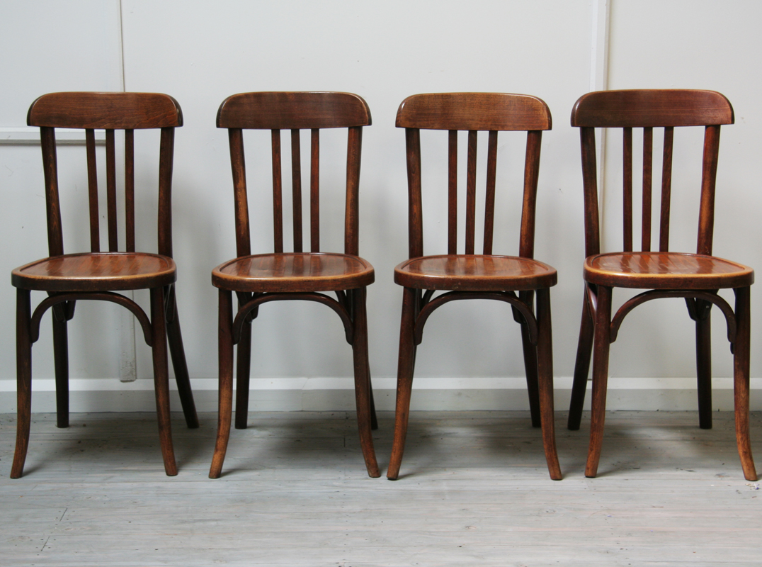 Set Of 4 French Baumann Caf 233 Chairs Haunt Antiques For