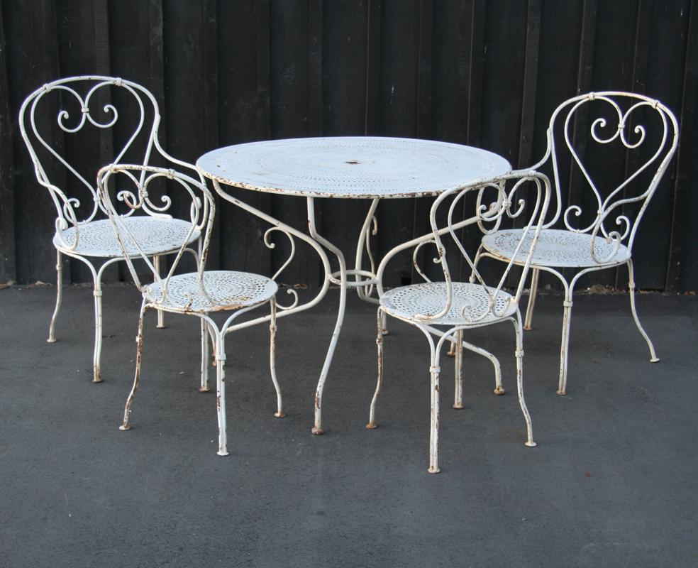 French Wrought Iron Salon De Jardin | Haunt - Antiques for ...