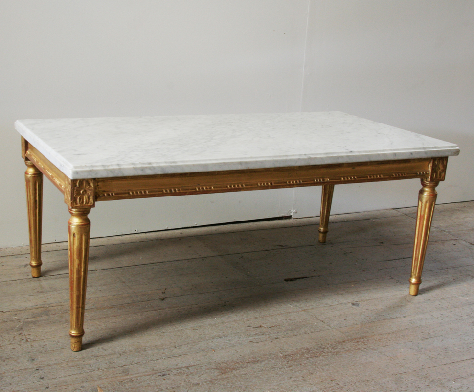 Louis 16 Style Giltwood And Marble Coffee Table Haunt Antiques For The Modern Interior