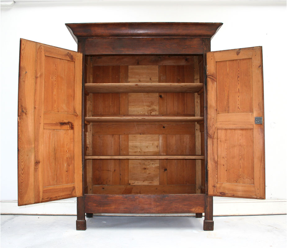 French Louis Philippe Pine Armoire   Haunt   Antiques for the Modern