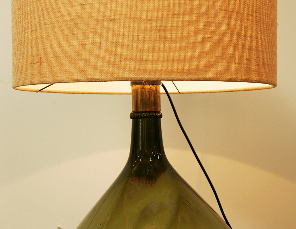 Monumental french wine bottle lamp haunt antiques for for Champagne bottle lamp