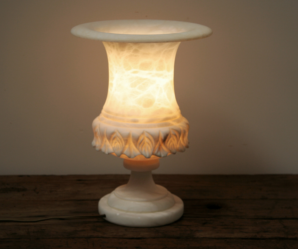 Modern lamp tables - Alabaster Lamp Haunt Antiques For The Modern Interior