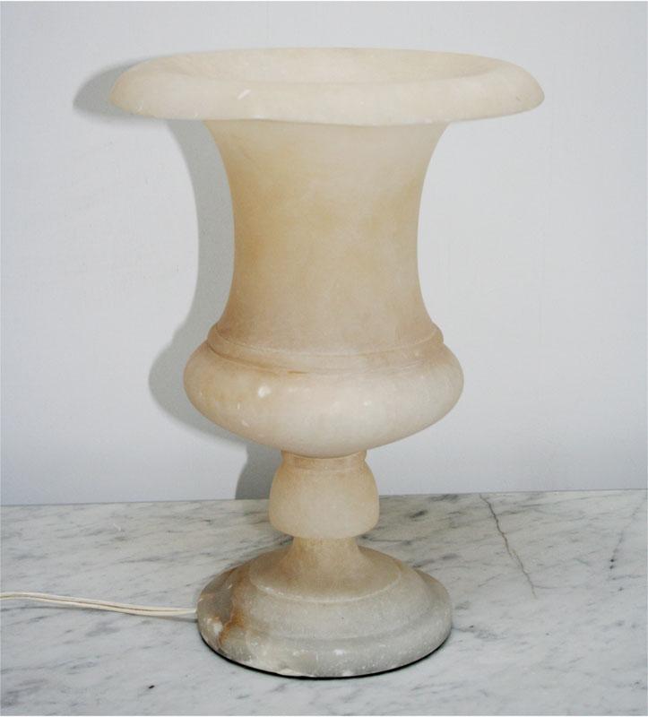 Alabaster Urn Lamp