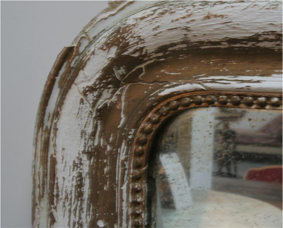 Large Distressed 19th Century Mirror Haunt Antiques