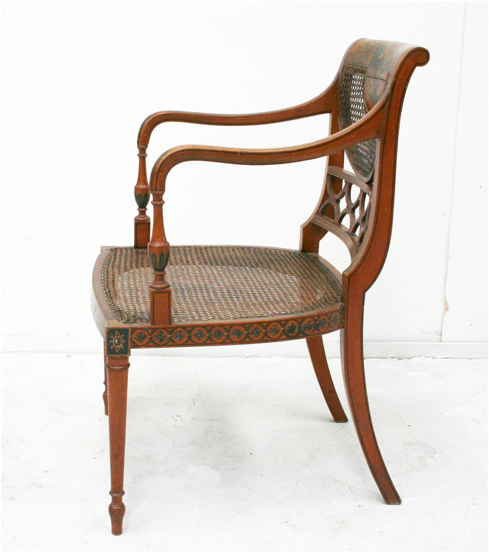 English Sheraton Style Armchair Haunt Antiques For The