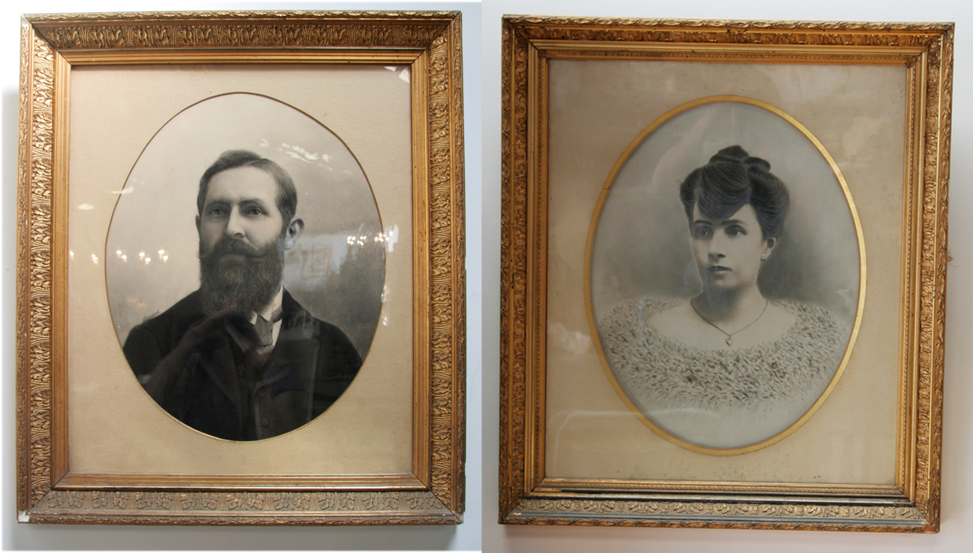 Pair of french late 19th century portraits haunt for 19th century french cuisine