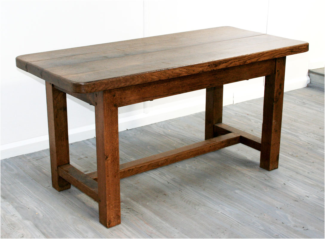 French Rustic Elm Kitchen Table