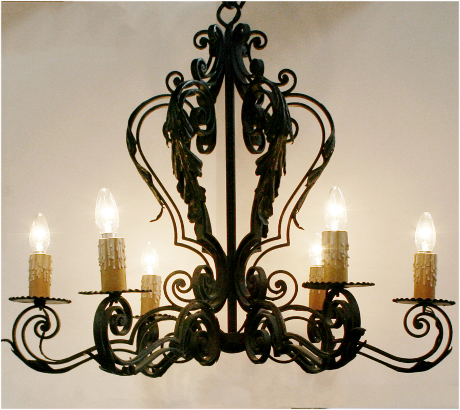 Spanish Wrought Iron Chandelier Haunt Antiques For The