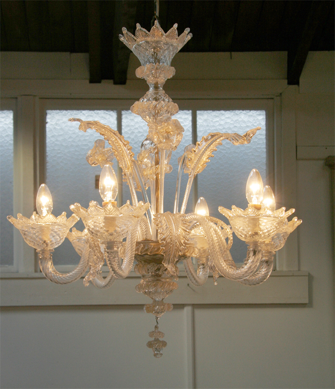 Venetian Murano Chandelier - Venetian Murano Chandelier Haunt - Antiques For The Modern Interior