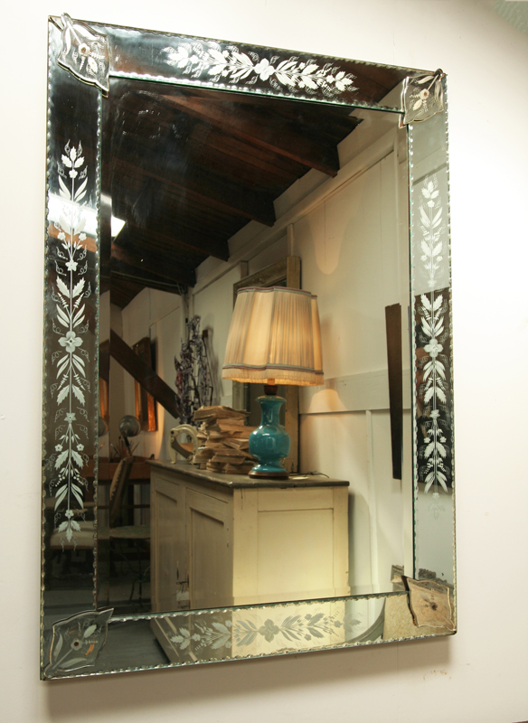 Mid Century Venetian Mirror Haunt Antiques For The Modern Interior