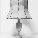 Alabaster And Vellum Lamp