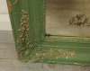 Late Empire Period Green Painted Mirror