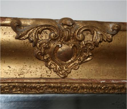 Empire period rectangular gilt mirror