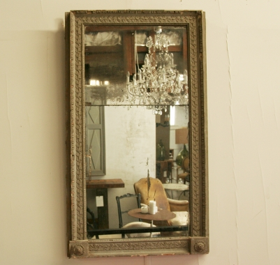 Large Painted Louis 16 Style Mirror