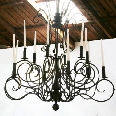 Italianate Iron Candelabra