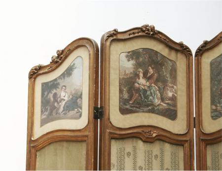 French 19th Century Louis 15th Style Screen