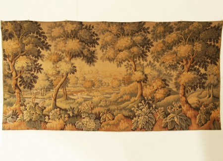 Large French Vintage Tapestry