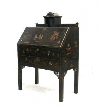 19th Century English Chinoiserie Secrétaire