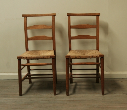 Pair Of French Church Chairs