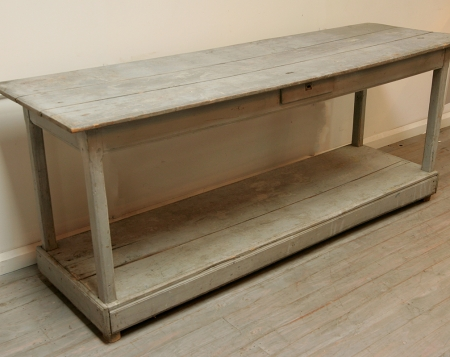 French 19th Century Painted Draper's Table