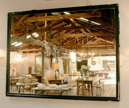 Large Bistro Mirror With Original Glass