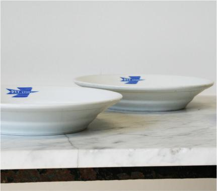 Monogrammed French Postal Service Plates