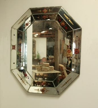 Painted Venetian Mirror