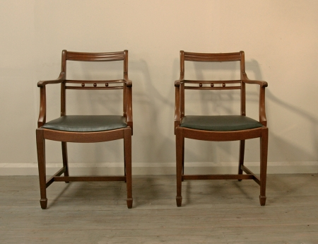 Pair Of Georgian Style Armchairs