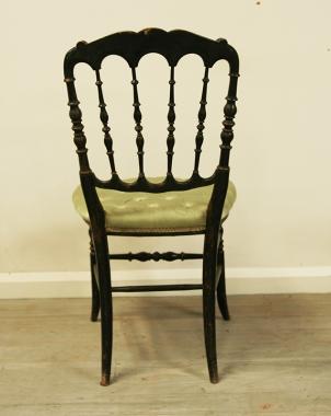 Pair Of Napoleon III Ebonised side chairs