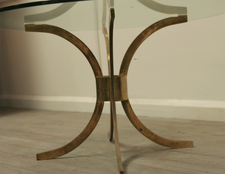 Elegant Round Brass Low Table