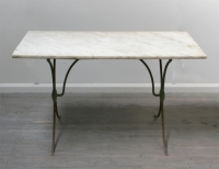 French Iron And Marble Café Table