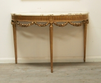 Louis 16th Style Gilt Console Table