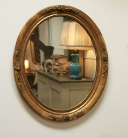Louis Philippe Oval Gilt Mirror