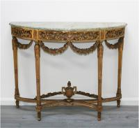 Superb Louis 16th Style Gilt Console Table