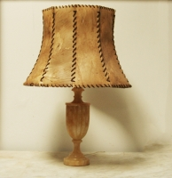 Alabaster And Vellum Lamp