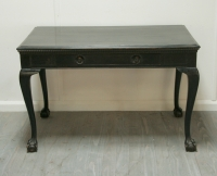 English Chippendale Style Ebonised Desk