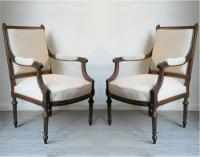 A Pair of Louis 16th Style Fauteuils