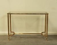Maison Jansen Style Brass Console Table