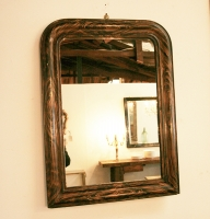 19th Century Marbled Mirror