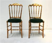 Pair of Napoleon III Gilt Side chairs