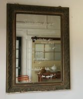 Belle Epoque Dark Green And Gilt Mirror