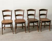 Set of Four French Rustic Chairs