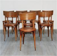 Set of Eight Baumann Bistro Chairs