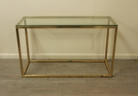 Minimalist Brass Console Table