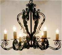 Spanish Wrought Iron Chandelier