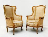Pair of Exceptional French Gilt Bergères