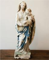 French Virgin Mary and Child Statue