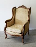 Louis 15 Style Walnut Bergère