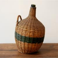 19th Century Bottle in Woven Casing